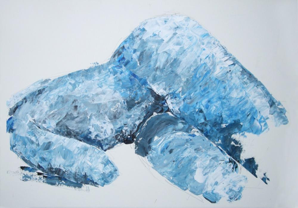 Liegende Frau, blau (188)