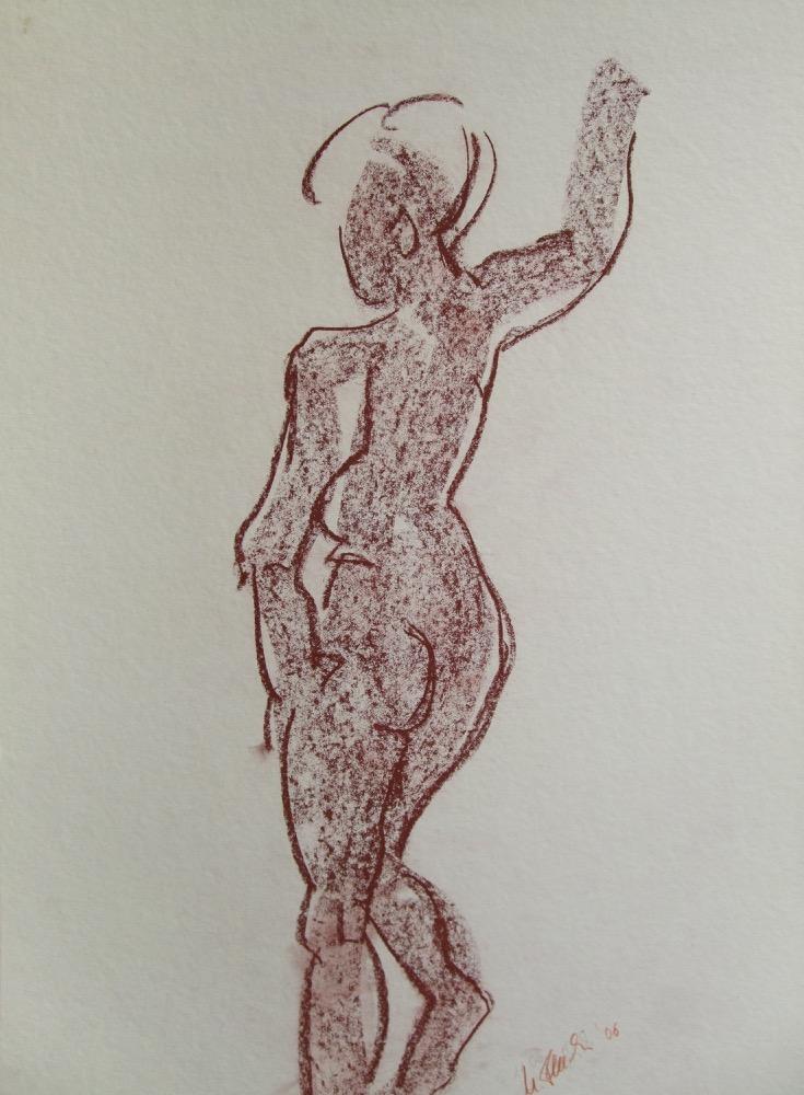 Stehende Frau braun (172)