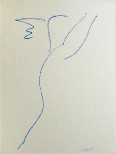 Hermes, Öl-Pastell auf Papier, kaschiert