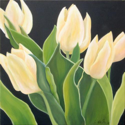 Gelbe Tulpen, Acryl auf Leinwand