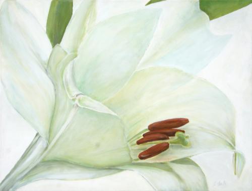 Lilienblüte, Acryl auf Leinwand