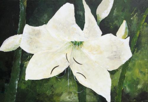 Waldlilie, Acryl auf Leinwand