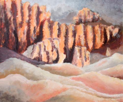 Bryce Canyon, Acryl auf Karton