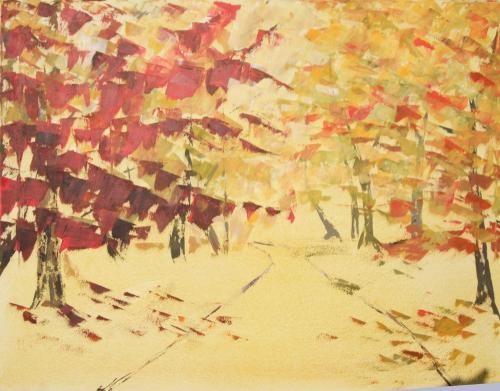 Oktober, Acryl auf Leinwand (verkauft)