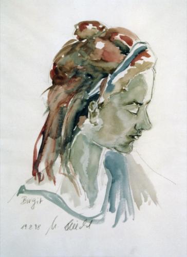 Birgit 2, Aquarell