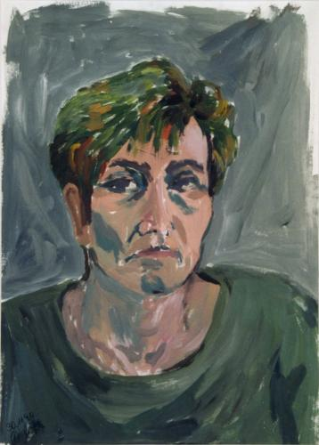 Frauenportrait 1, Acryl auf Papier