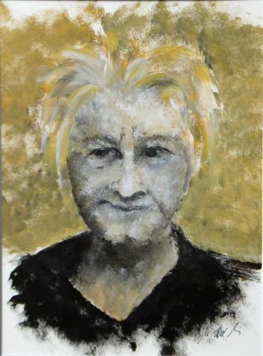 Männerportrait, Acryl auf Karton