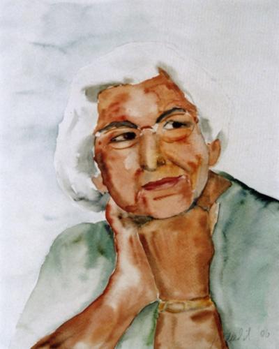 Meine Mutter, Aquarell (verkauft)